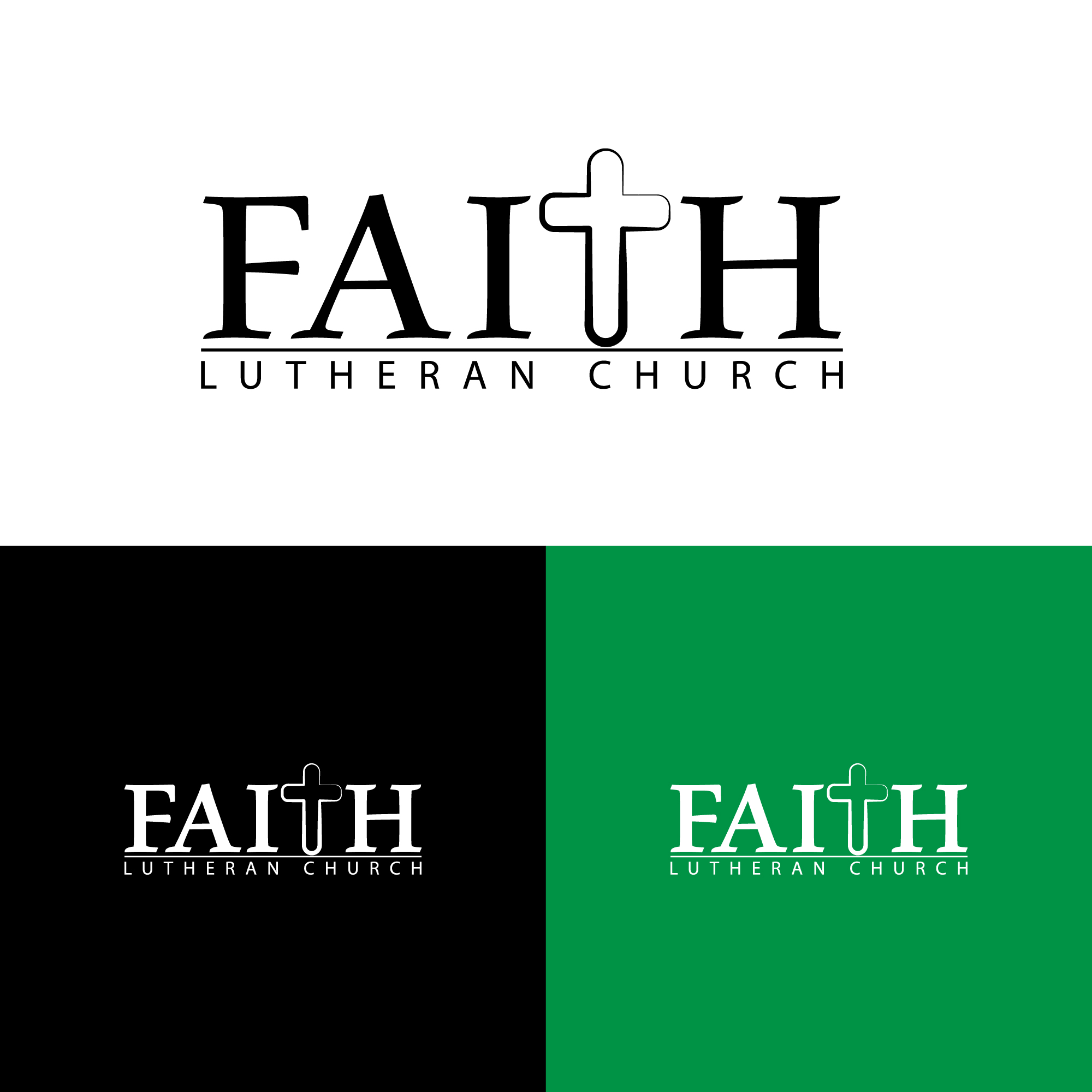 Logo Design by Private User - Entry No. 62 in the Logo Design Contest Logo Design for Faith Lutheran Church.