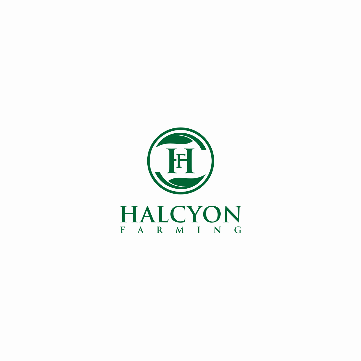 Logo Design by Surya Juna saputra - Entry No. 16 in the Logo Design Contest Creative Logo Design for Halcyon Farming.