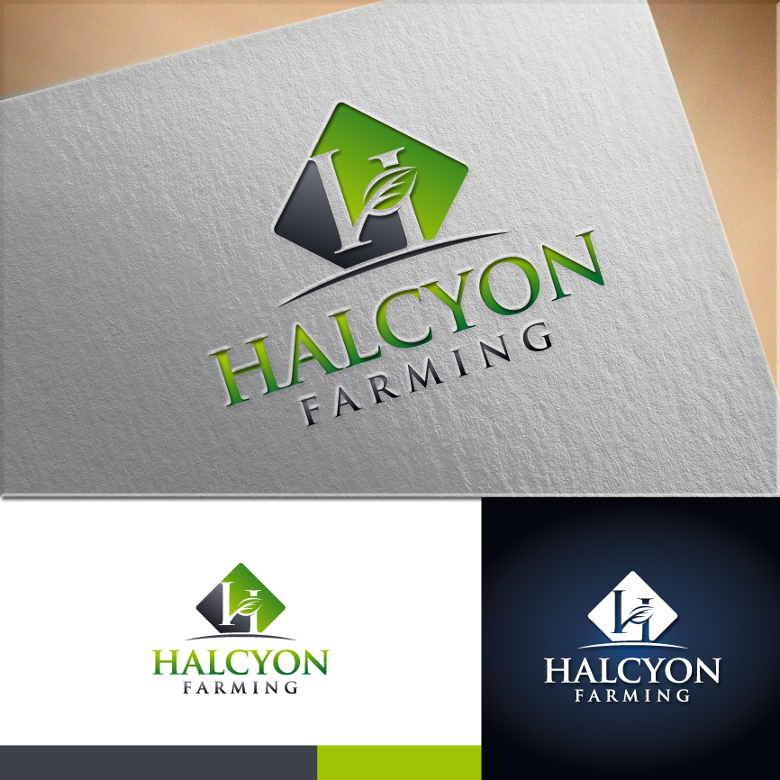 Logo Design by RasYa Muhammad Athaya - Entry No. 19 in the Logo Design Contest Creative Logo Design for Halcyon Farming.