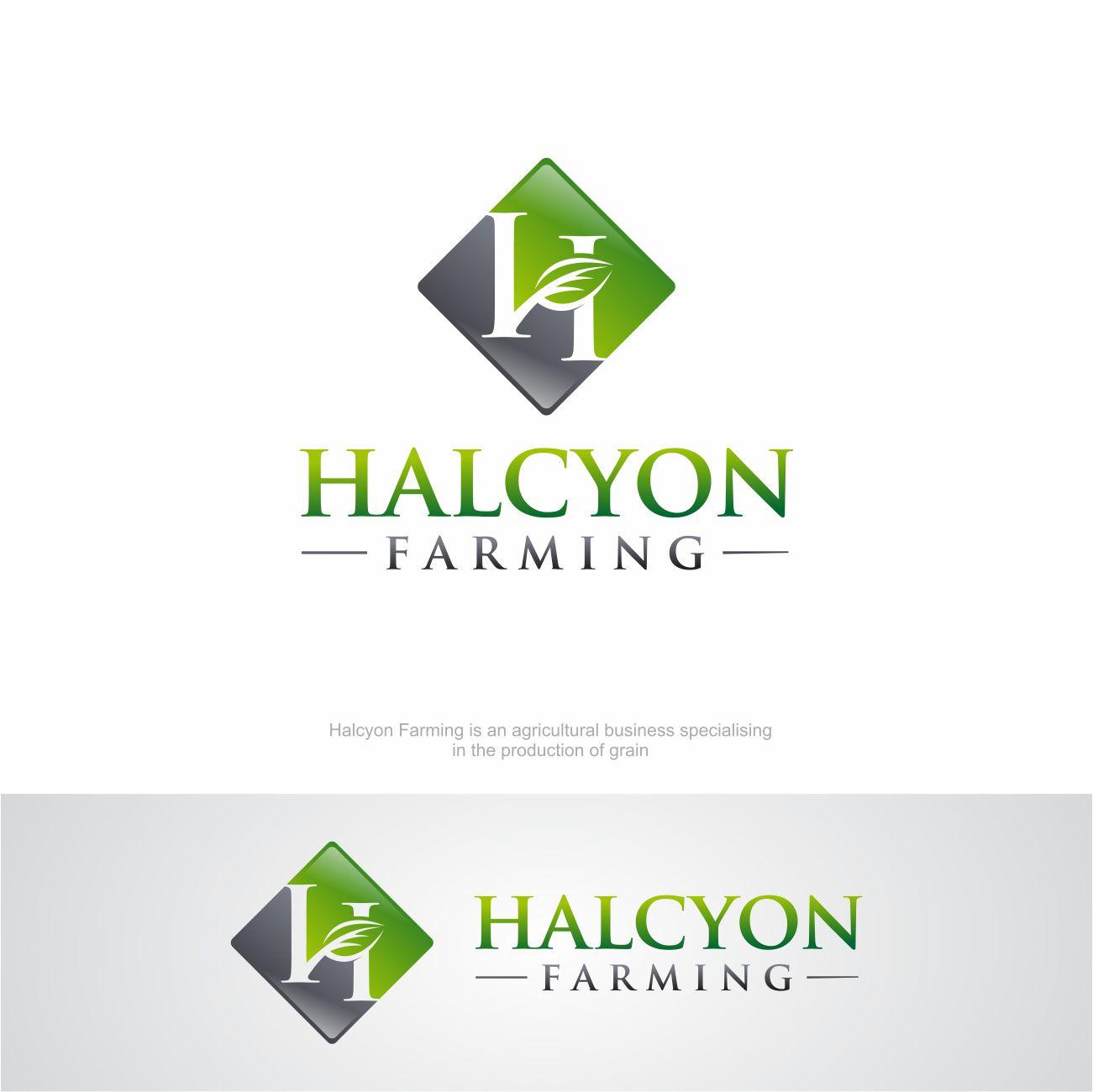 Logo Design by RasYa Muhammad Athaya - Entry No. 20 in the Logo Design Contest Creative Logo Design for Halcyon Farming.