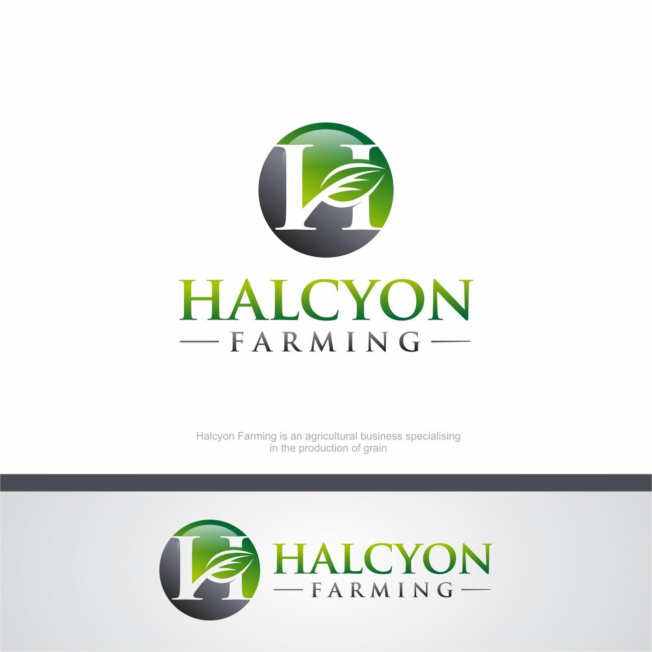 Logo Design by RasYa Muhammad Athaya - Entry No. 21 in the Logo Design Contest Creative Logo Design for Halcyon Farming.