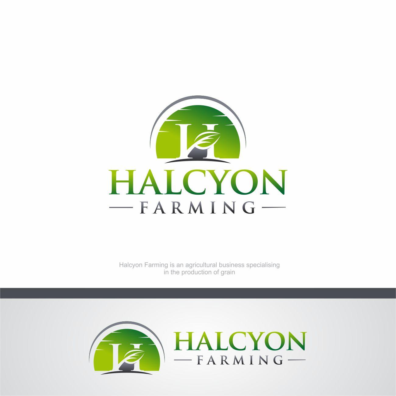 Logo Design by RasYa Muhammad Athaya - Entry No. 23 in the Logo Design Contest Creative Logo Design for Halcyon Farming.