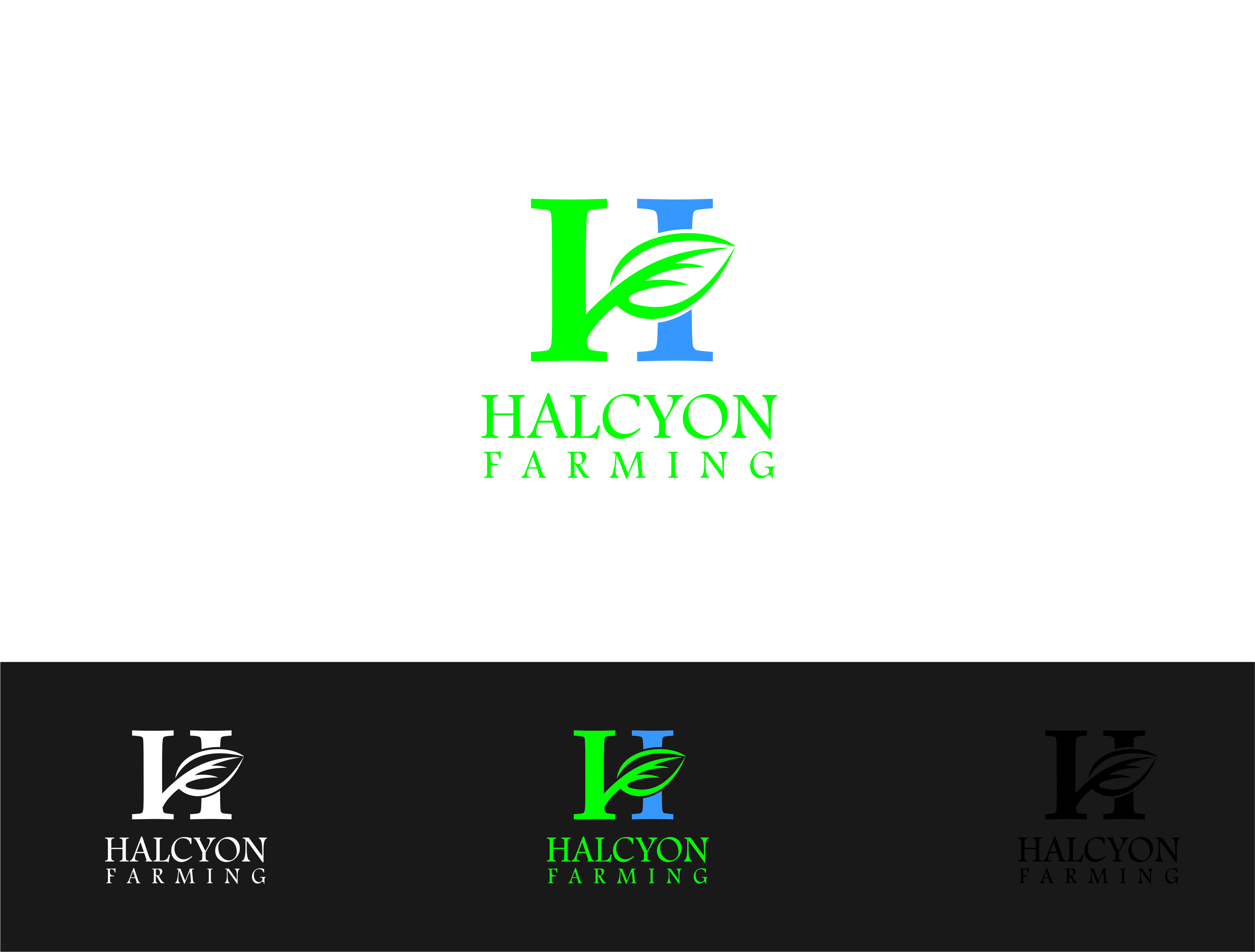 Logo Design by Dian Jatmiko - Entry No. 28 in the Logo Design Contest Creative Logo Design for Halcyon Farming.