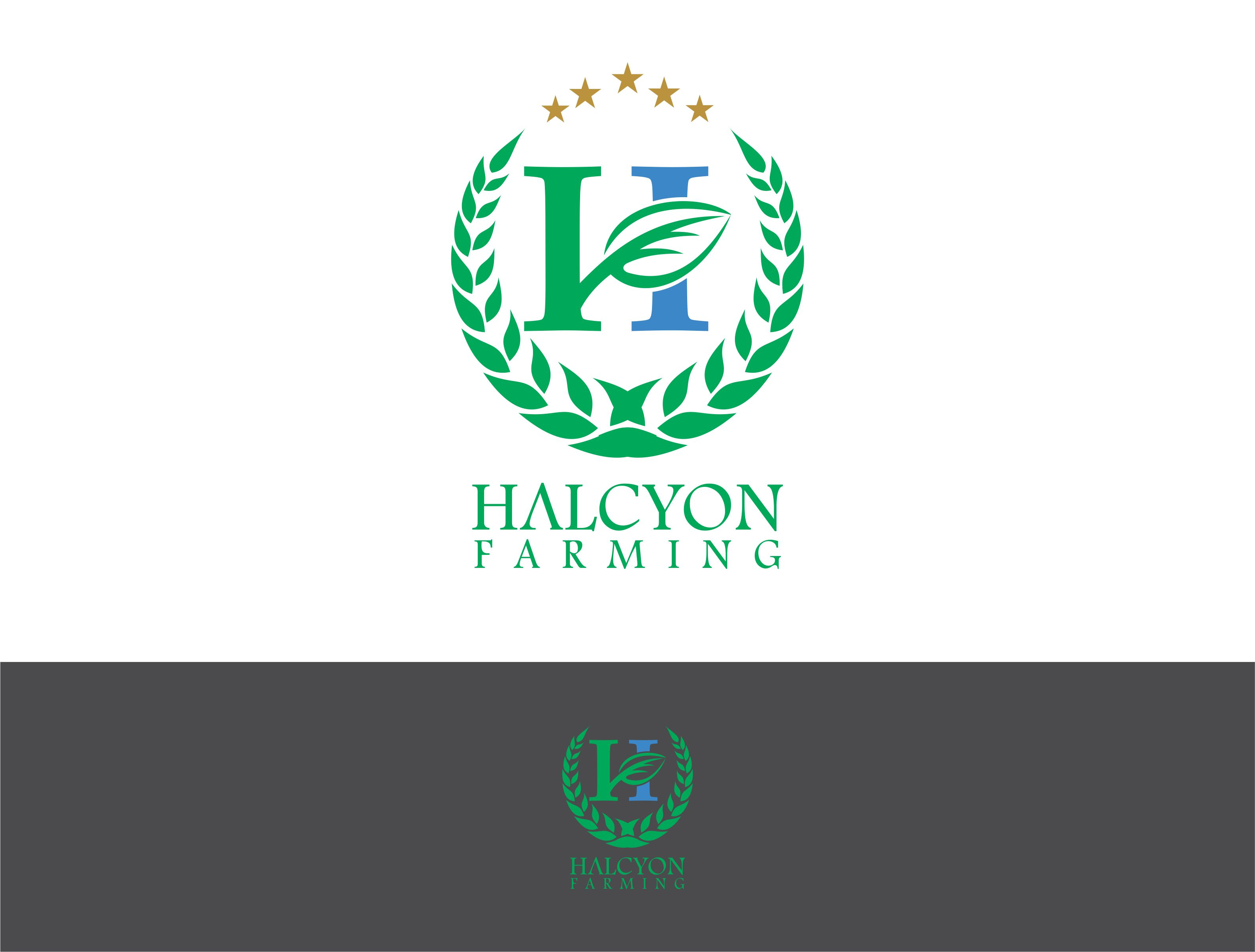 Logo Design by Dian Jatmiko - Entry No. 29 in the Logo Design Contest Creative Logo Design for Halcyon Farming.
