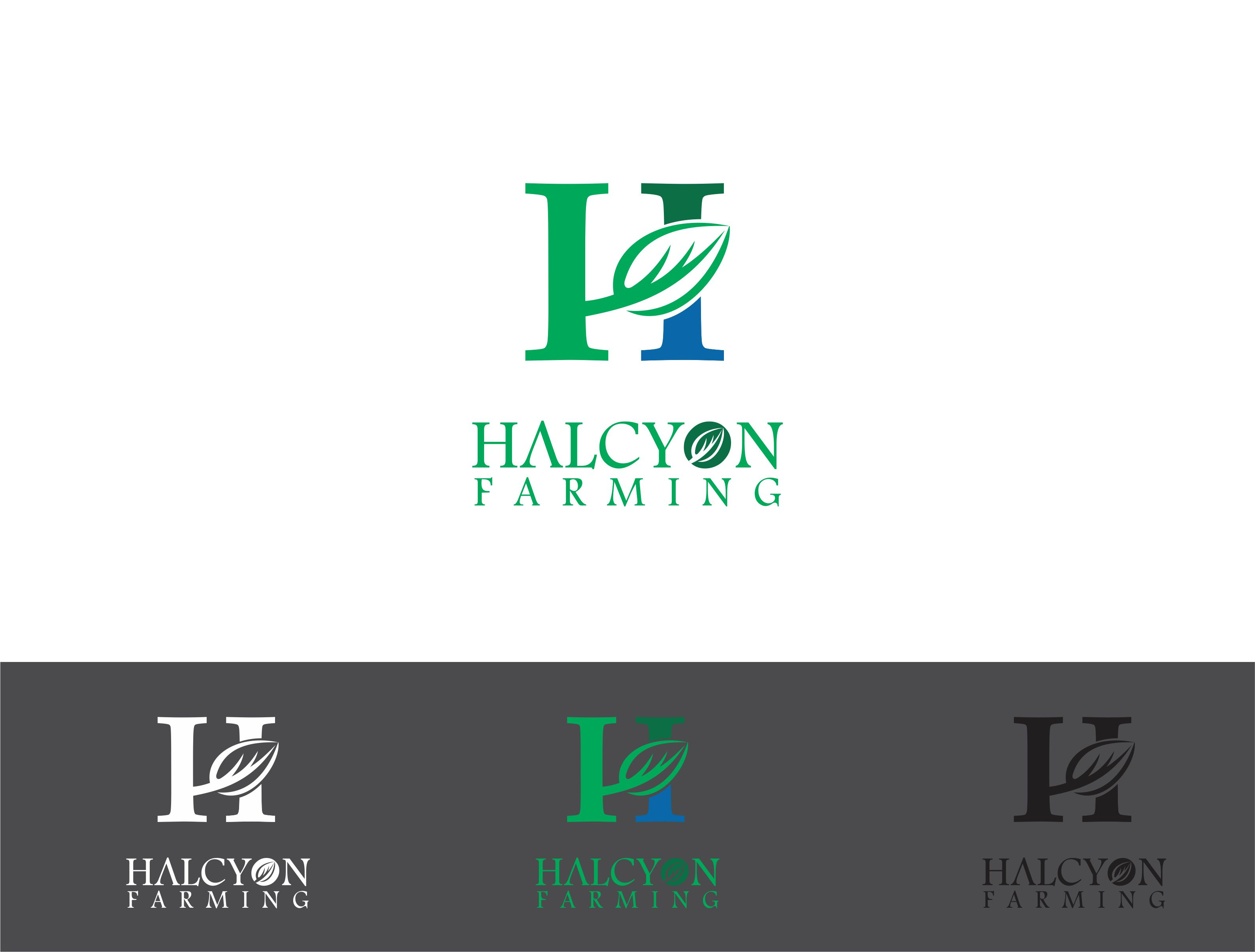 Logo Design by Dian Jatmiko - Entry No. 30 in the Logo Design Contest Creative Logo Design for Halcyon Farming.