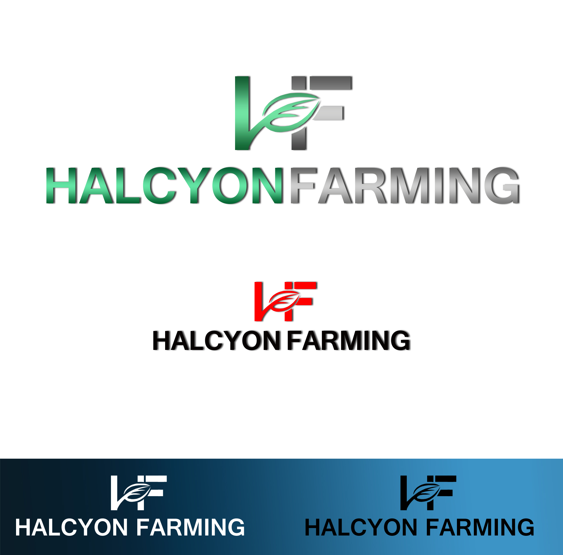 Logo Design by JSDESIGNGROUP - Entry No. 32 in the Logo Design Contest Creative Logo Design for Halcyon Farming.
