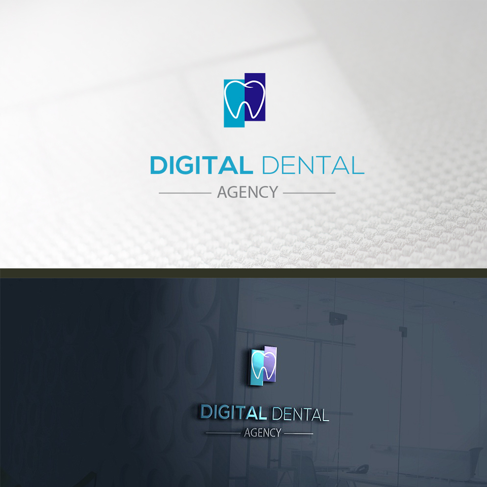Logo Design by ALBAN KRASNIQI - Entry No. 50 in the Logo Design Contest Imaginative Logo Design for Digital Dental Agency.