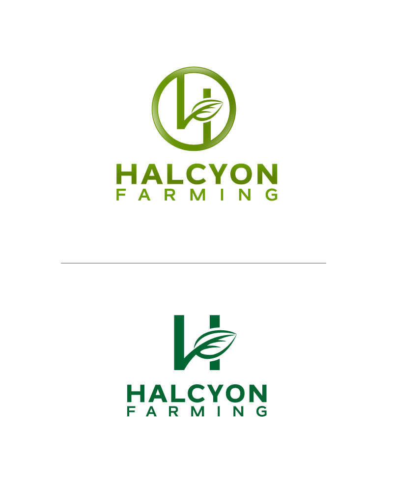 Logo Design by Tauhid Shaikh - Entry No. 50 in the Logo Design Contest Creative Logo Design for Halcyon Farming.