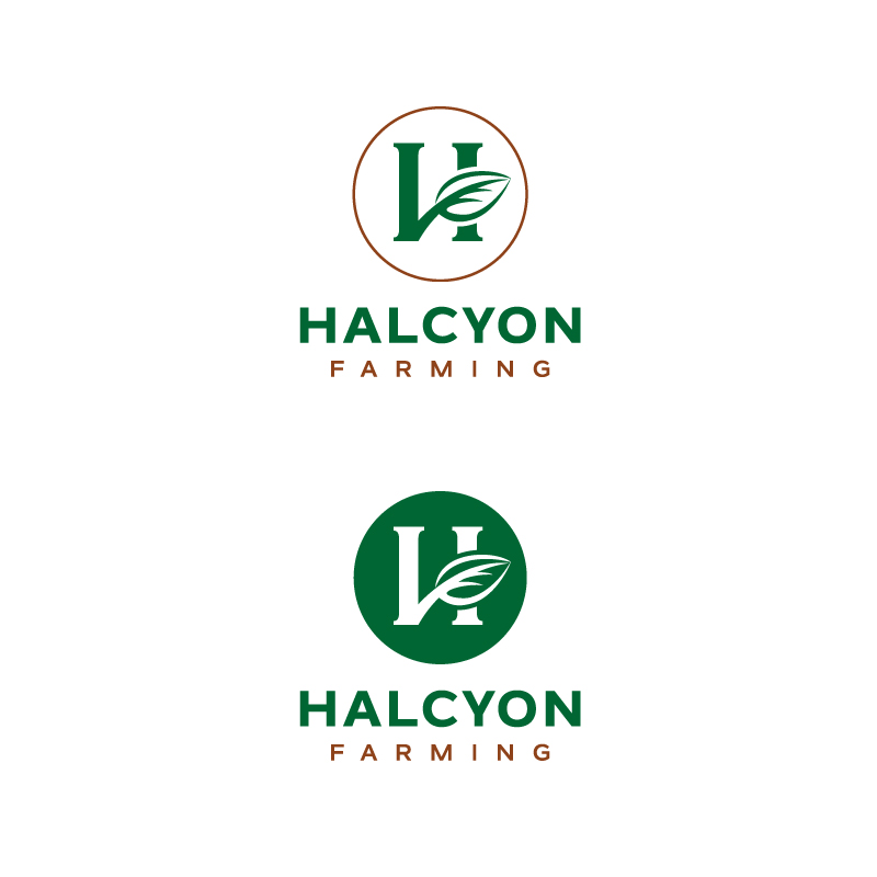 Logo Design by Tauhid Shaikh - Entry No. 51 in the Logo Design Contest Creative Logo Design for Halcyon Farming.
