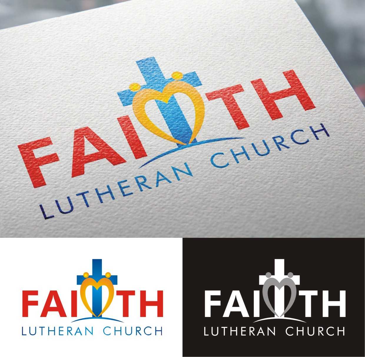 Logo Design by Spider Graphics - Entry No. 205 in the Logo Design Contest Logo Design for Faith Lutheran Church.