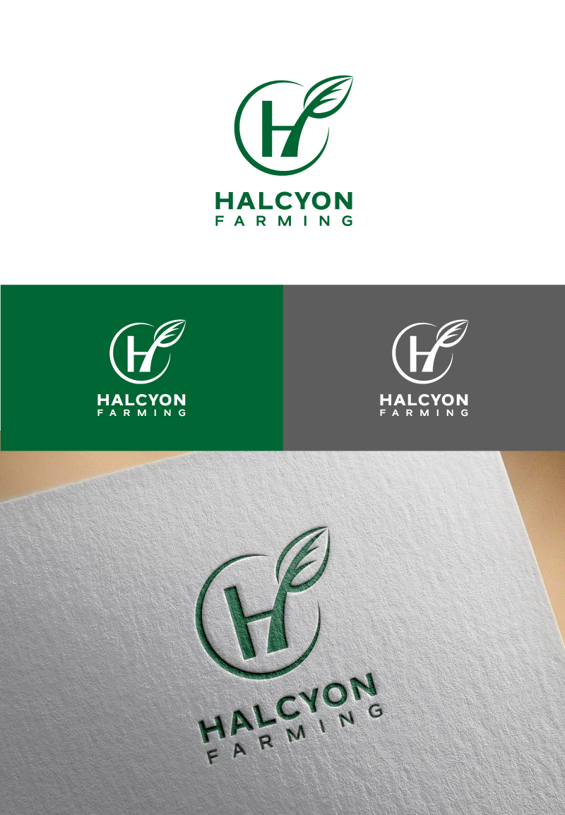 Logo Design by Tauhid Shaikh - Entry No. 52 in the Logo Design Contest Creative Logo Design for Halcyon Farming.