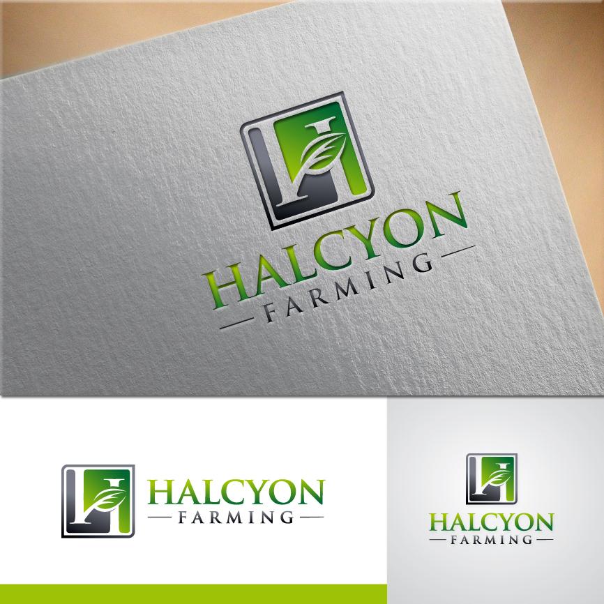 Logo Design by RasYa Muhammad Athaya - Entry No. 53 in the Logo Design Contest Creative Logo Design for Halcyon Farming.