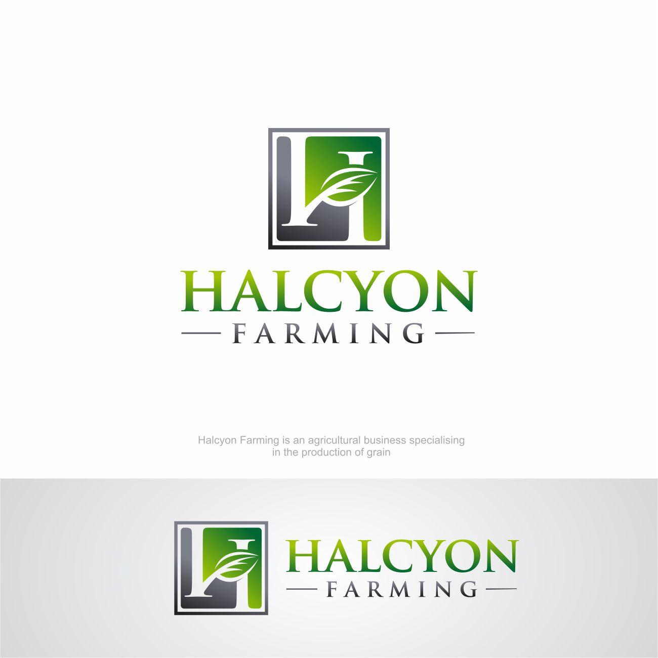 Logo Design by RasYa Muhammad Athaya - Entry No. 55 in the Logo Design Contest Creative Logo Design for Halcyon Farming.