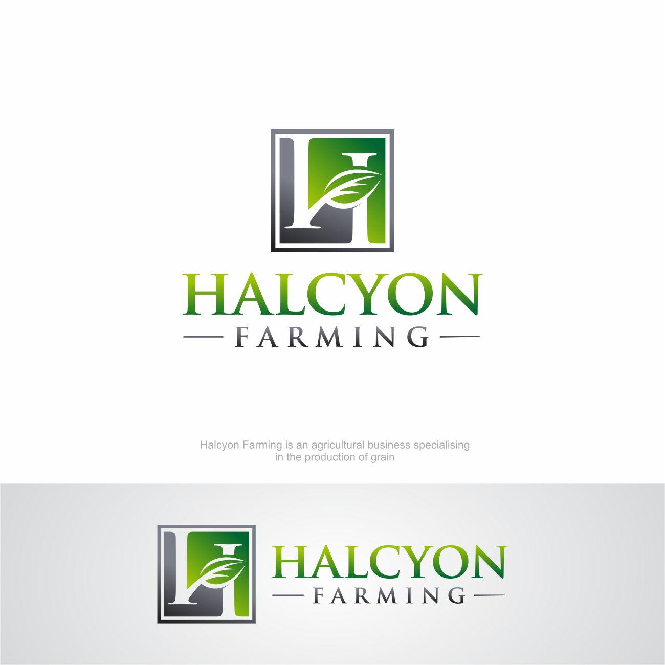 Logo Design by RasYa Muhammad Athaya - Entry No. 56 in the Logo Design Contest Creative Logo Design for Halcyon Farming.
