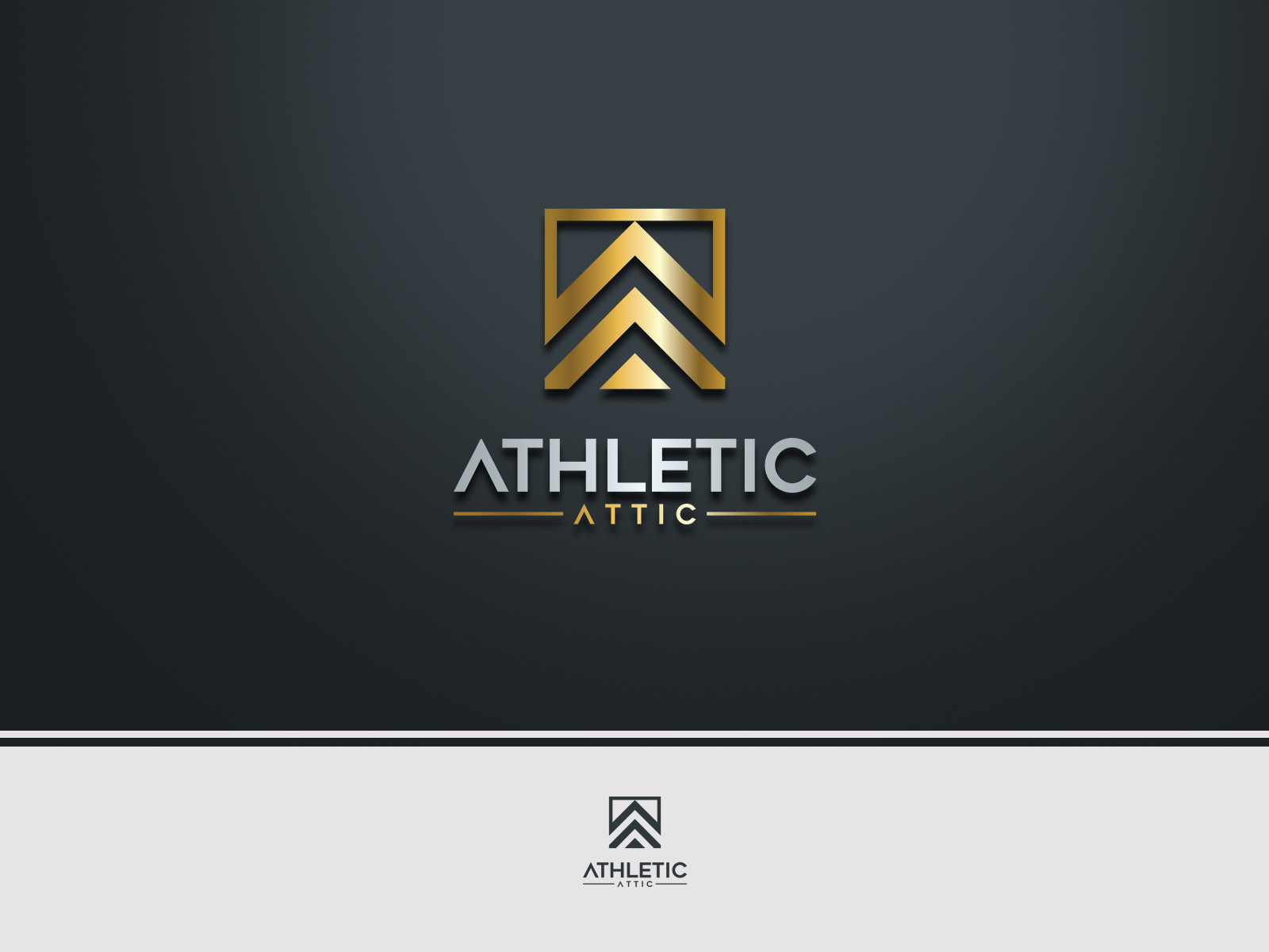Logo Design by Ahenk Ahenk - Entry No. 70 in the Logo Design Contest Fun Logo Design for Athletic Attic.