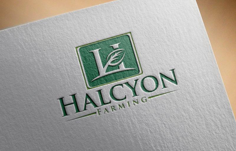 Logo Design by Md Harun Or Rashid - Entry No. 60 in the Logo Design Contest Creative Logo Design for Halcyon Farming.