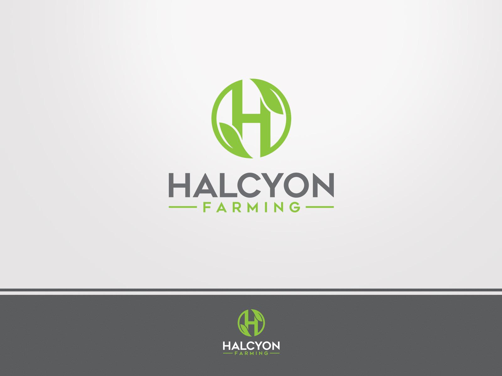 Logo Design by Ahenk Ahenk - Entry No. 62 in the Logo Design Contest Creative Logo Design for Halcyon Farming.