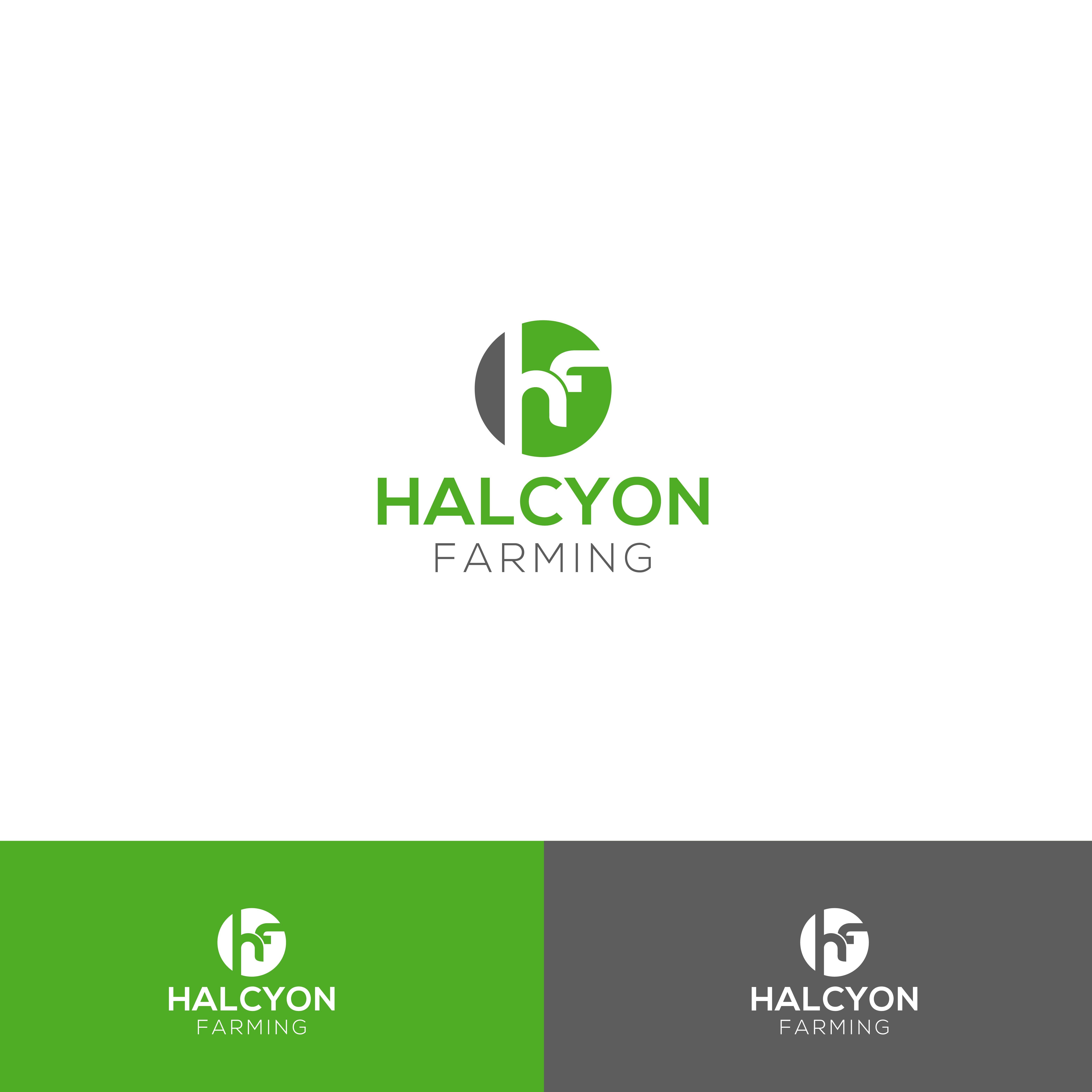 Logo Design by Al Alif - Entry No. 63 in the Logo Design Contest Creative Logo Design for Halcyon Farming.