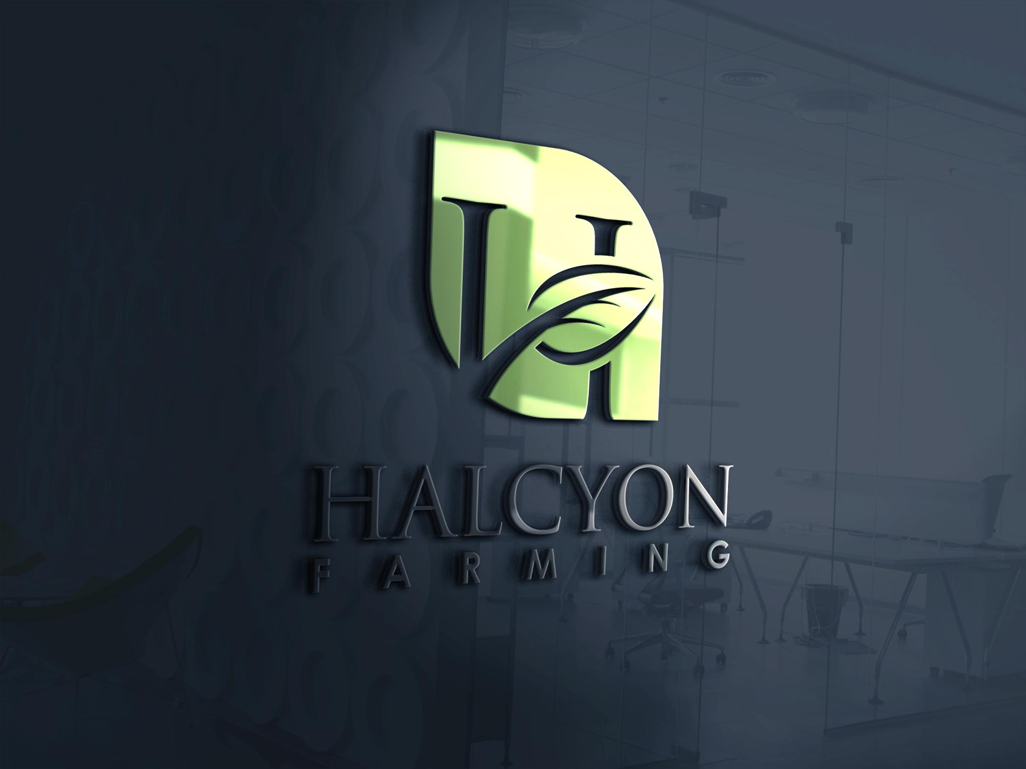 Logo Design by Net Bih - Entry No. 66 in the Logo Design Contest Creative Logo Design for Halcyon Farming.