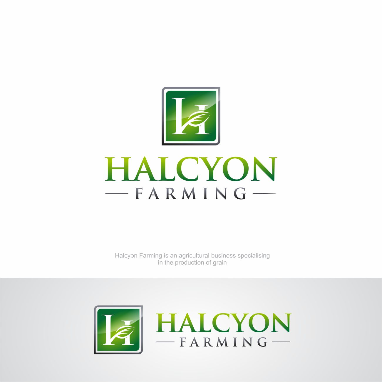 Logo Design by RasYa Muhammad Athaya - Entry No. 74 in the Logo Design Contest Creative Logo Design for Halcyon Farming.