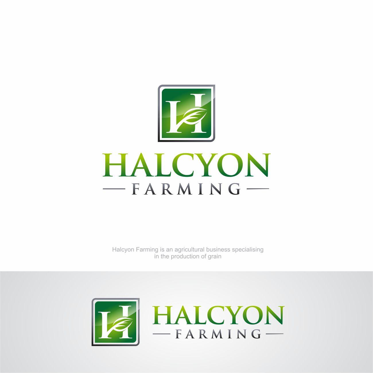 Logo Design by RasYa Muhammad Athaya - Entry No. 75 in the Logo Design Contest Creative Logo Design for Halcyon Farming.