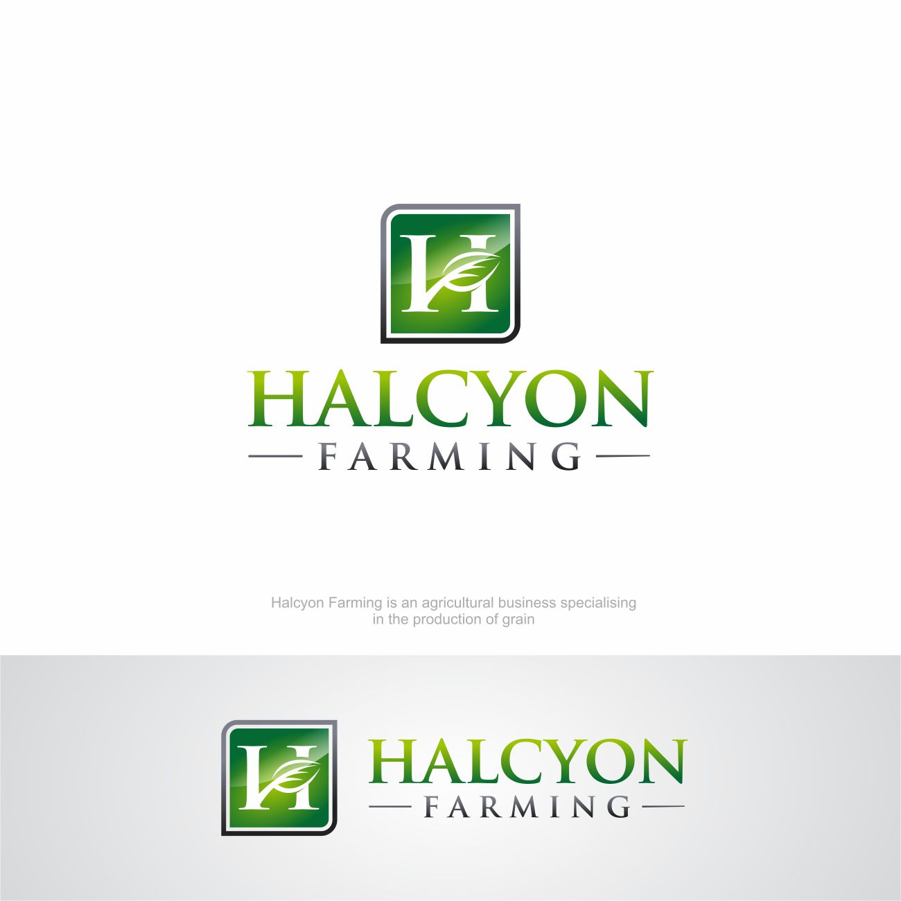 Logo Design by RasYa Muhammad Athaya - Entry No. 76 in the Logo Design Contest Creative Logo Design for Halcyon Farming.