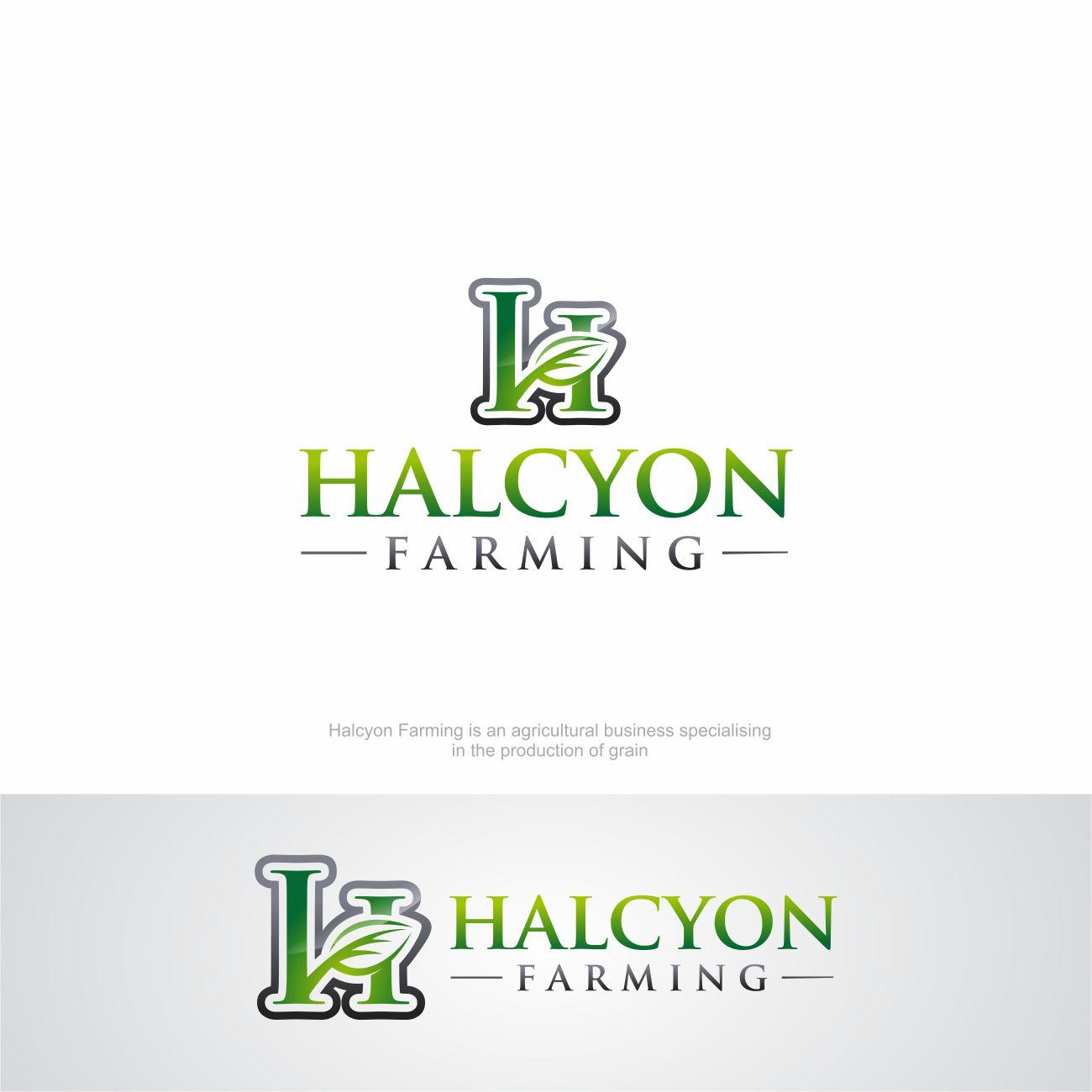 Logo Design by RasYa Muhammad Athaya - Entry No. 77 in the Logo Design Contest Creative Logo Design for Halcyon Farming.