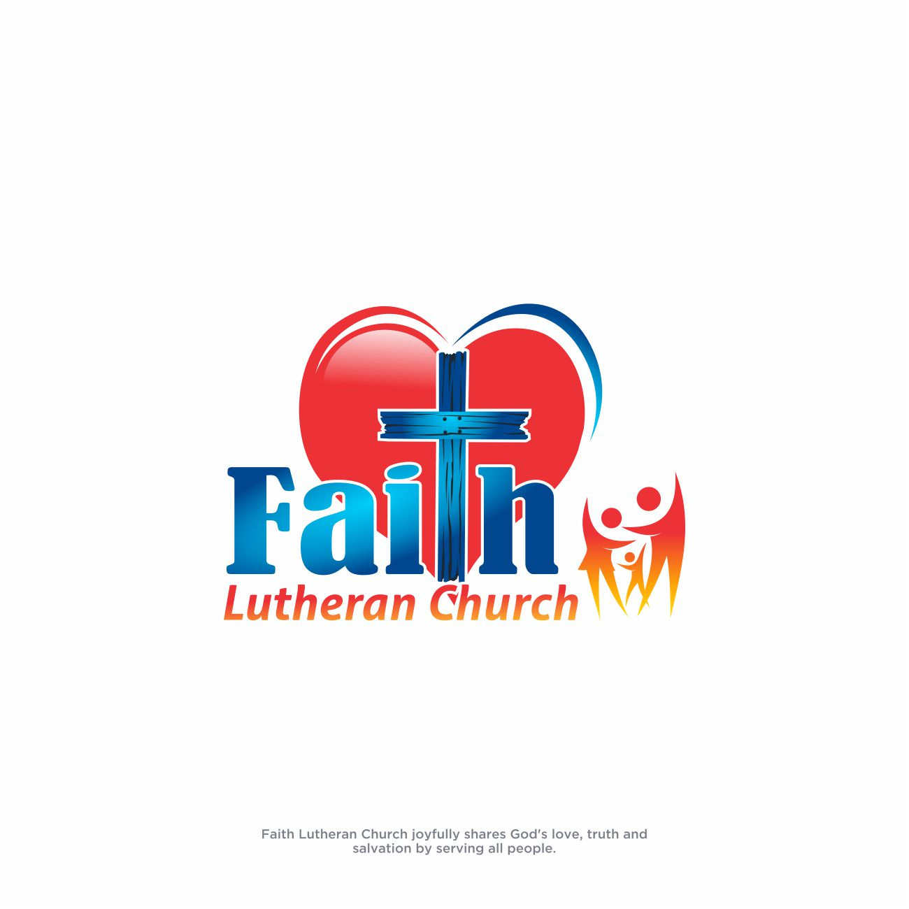 Logo Design by RasYa Muhammad Athaya - Entry No. 250 in the Logo Design Contest Logo Design for Faith Lutheran Church.