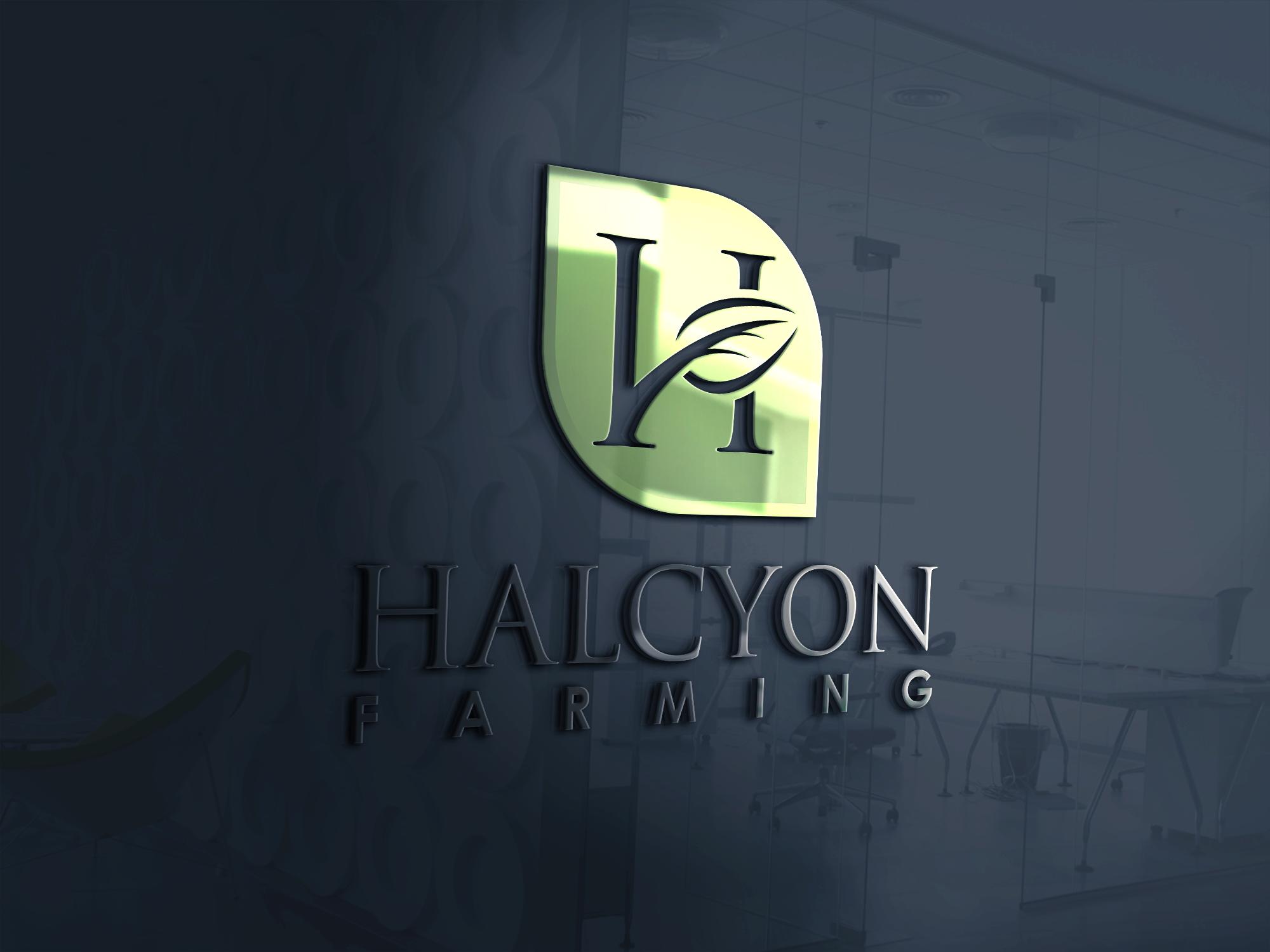 Logo Design by Net Bih - Entry No. 86 in the Logo Design Contest Creative Logo Design for Halcyon Farming.