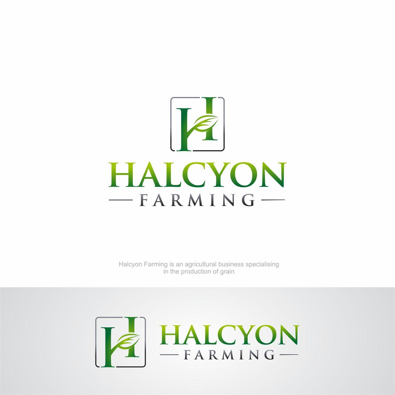 Logo Design by RasYa Muhammad Athaya - Entry No. 88 in the Logo Design Contest Creative Logo Design for Halcyon Farming.