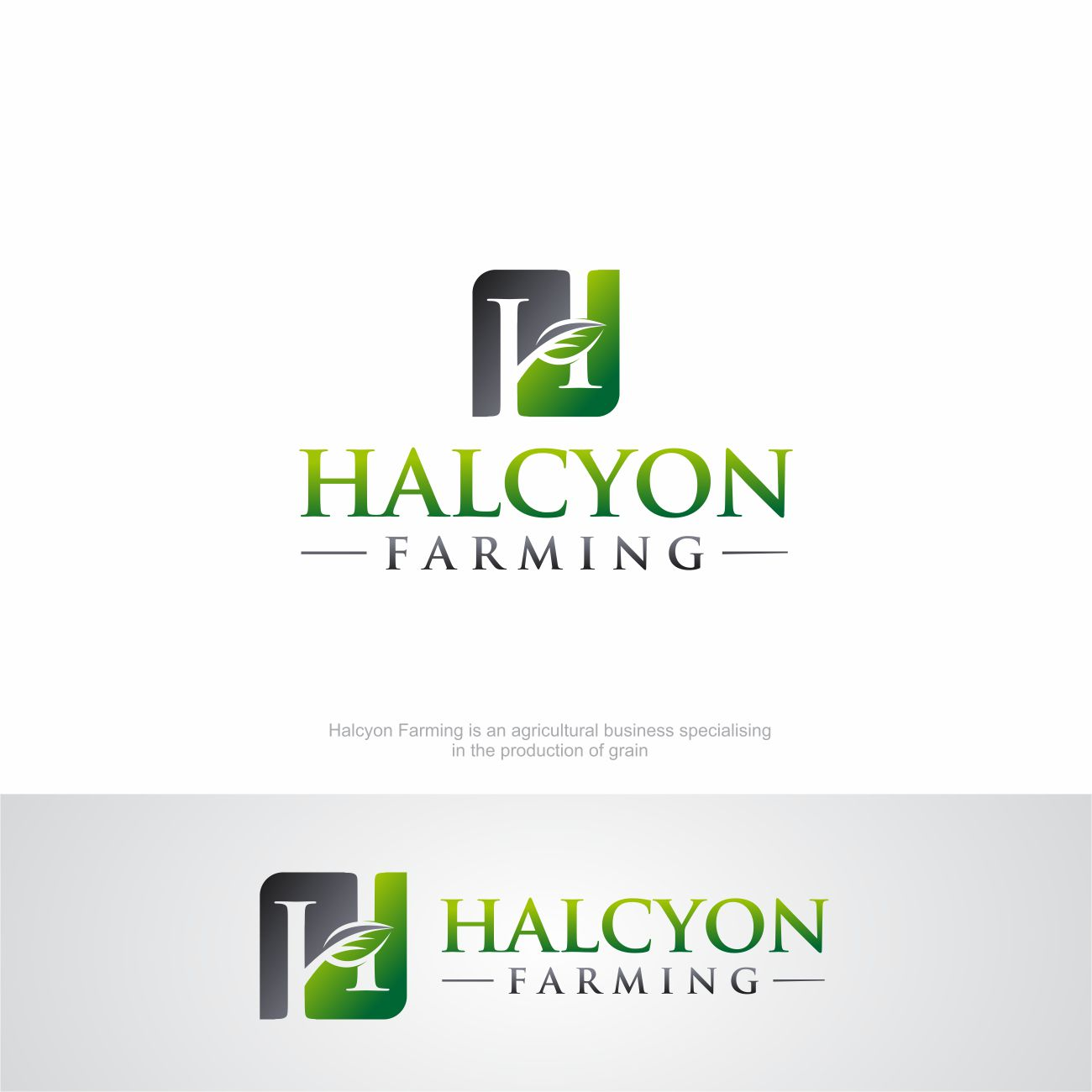 Logo Design by RasYa Muhammad Athaya - Entry No. 89 in the Logo Design Contest Creative Logo Design for Halcyon Farming.