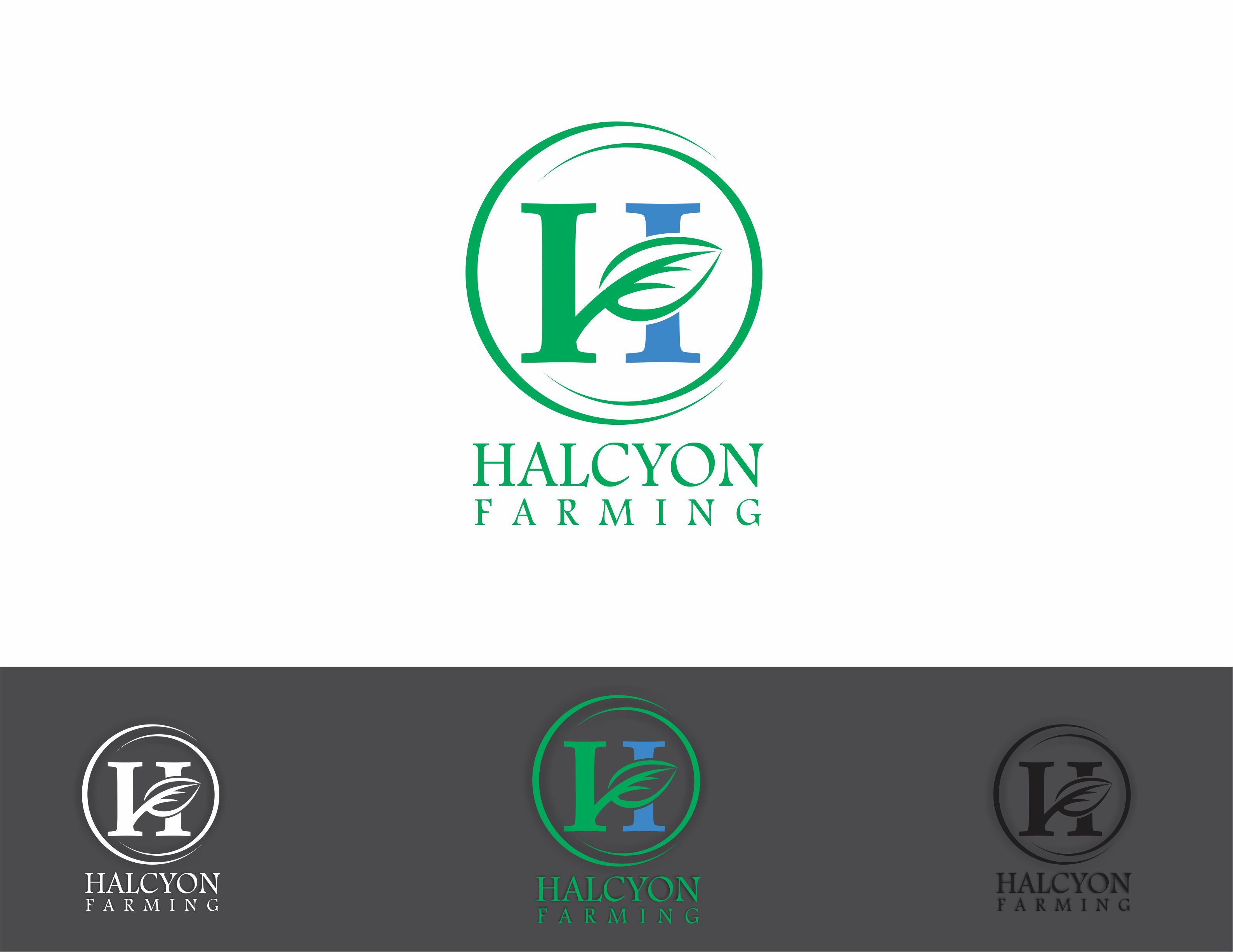 Logo Design by Dian Jatmiko - Entry No. 103 in the Logo Design Contest Creative Logo Design for Halcyon Farming.