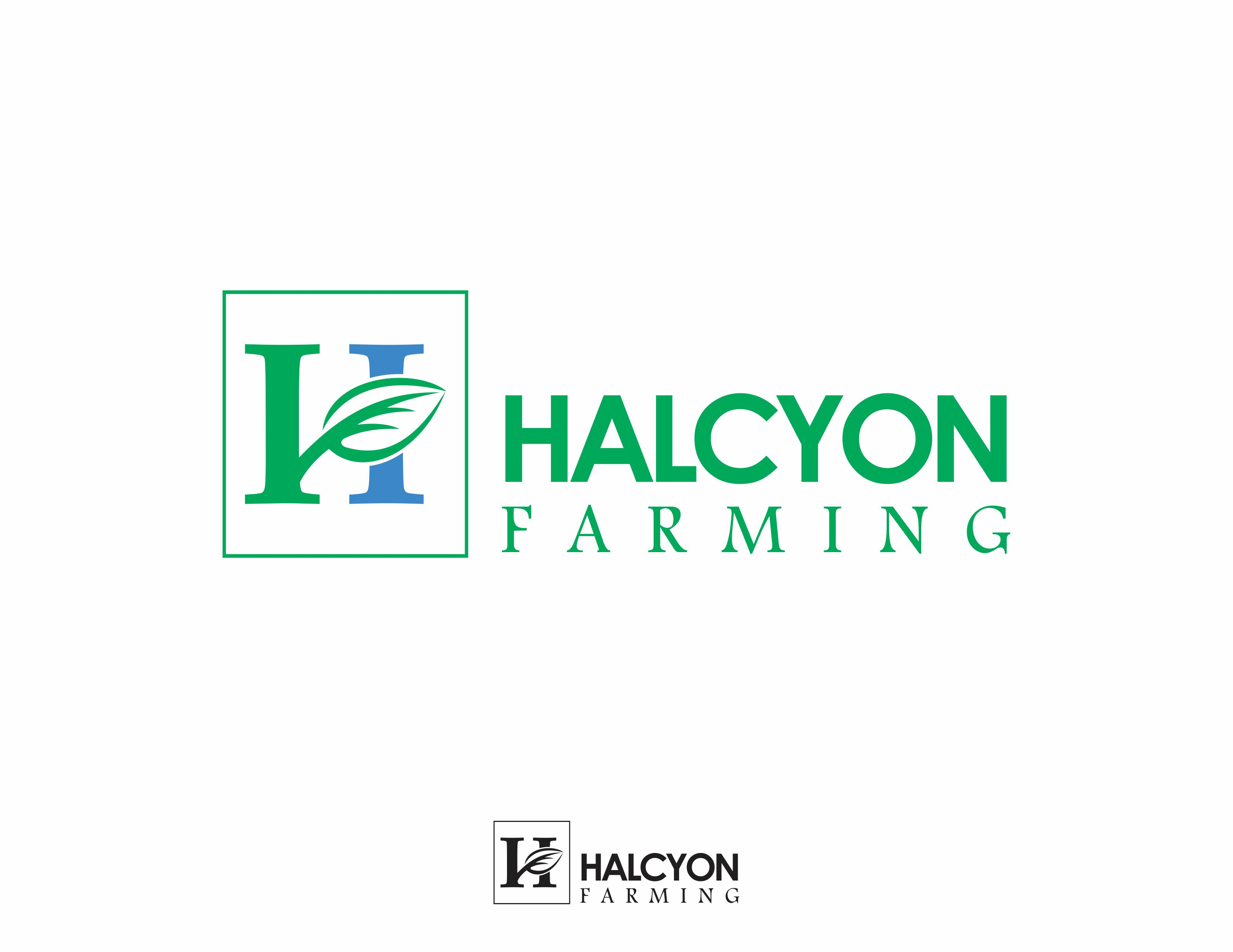Logo Design by Dian Jatmiko - Entry No. 106 in the Logo Design Contest Creative Logo Design for Halcyon Farming.