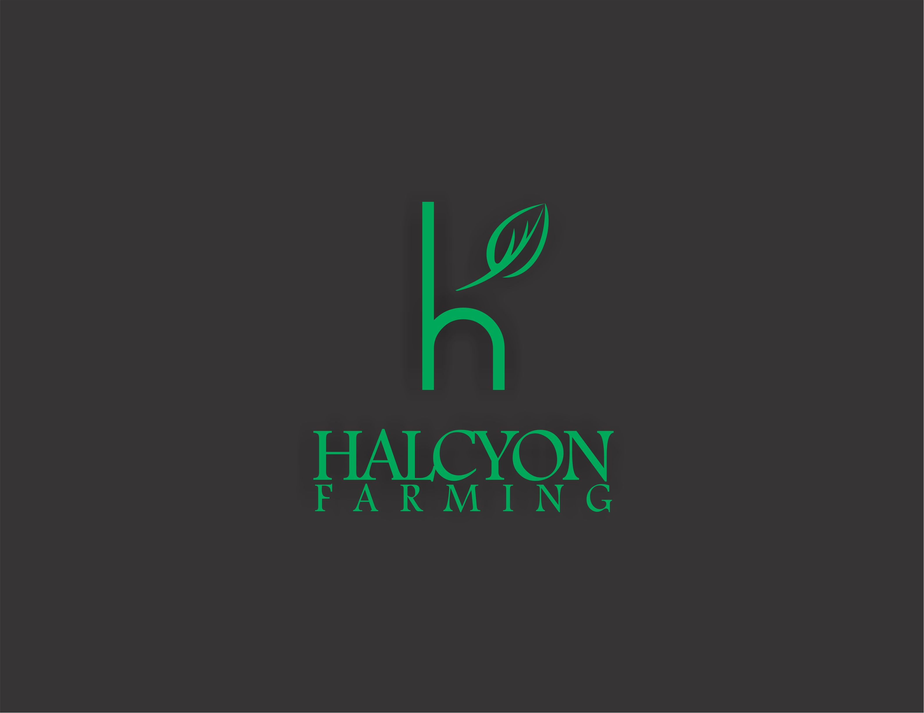 Logo Design by Dian Jatmiko - Entry No. 107 in the Logo Design Contest Creative Logo Design for Halcyon Farming.