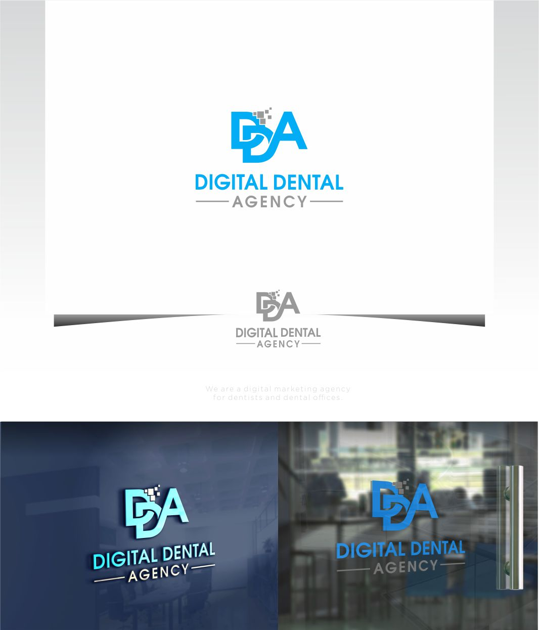 Logo Design by Raymond Garcia - Entry No. 110 in the Logo Design Contest Imaginative Logo Design for Digital Dental Agency.