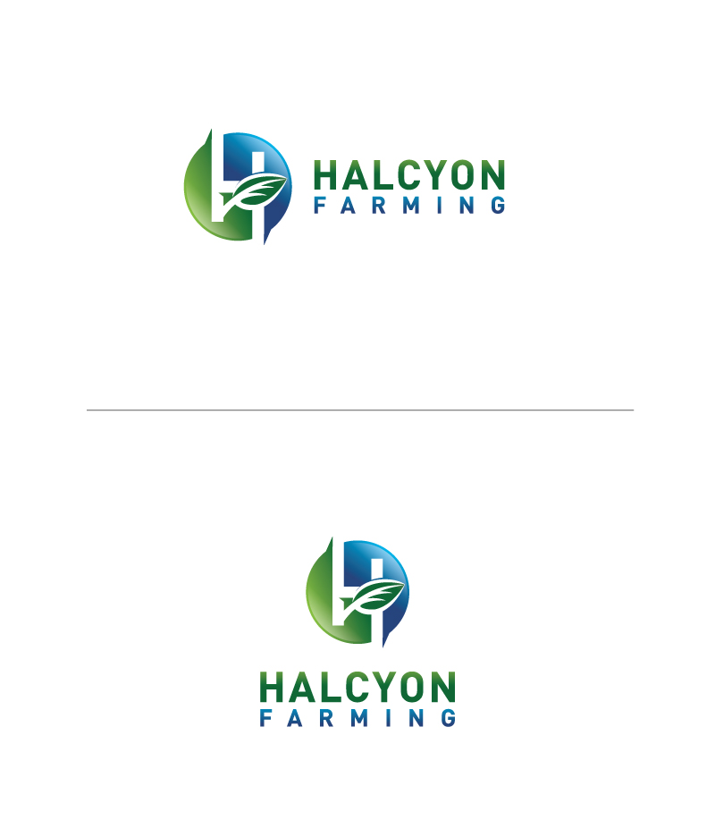 Logo Design by Tauhid Shaikh - Entry No. 111 in the Logo Design Contest Creative Logo Design for Halcyon Farming.