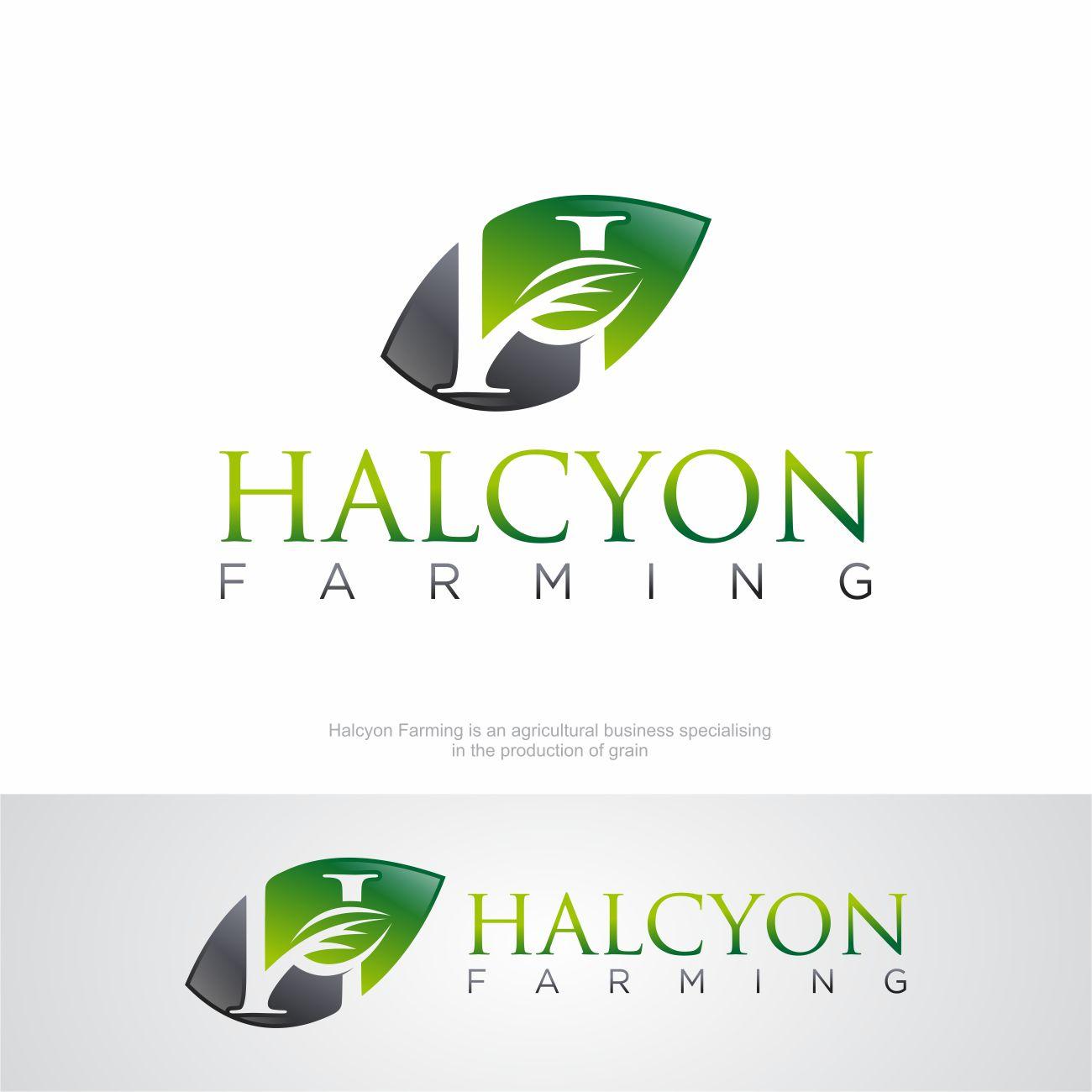 Logo Design by RasYa Muhammad Athaya - Entry No. 112 in the Logo Design Contest Creative Logo Design for Halcyon Farming.
