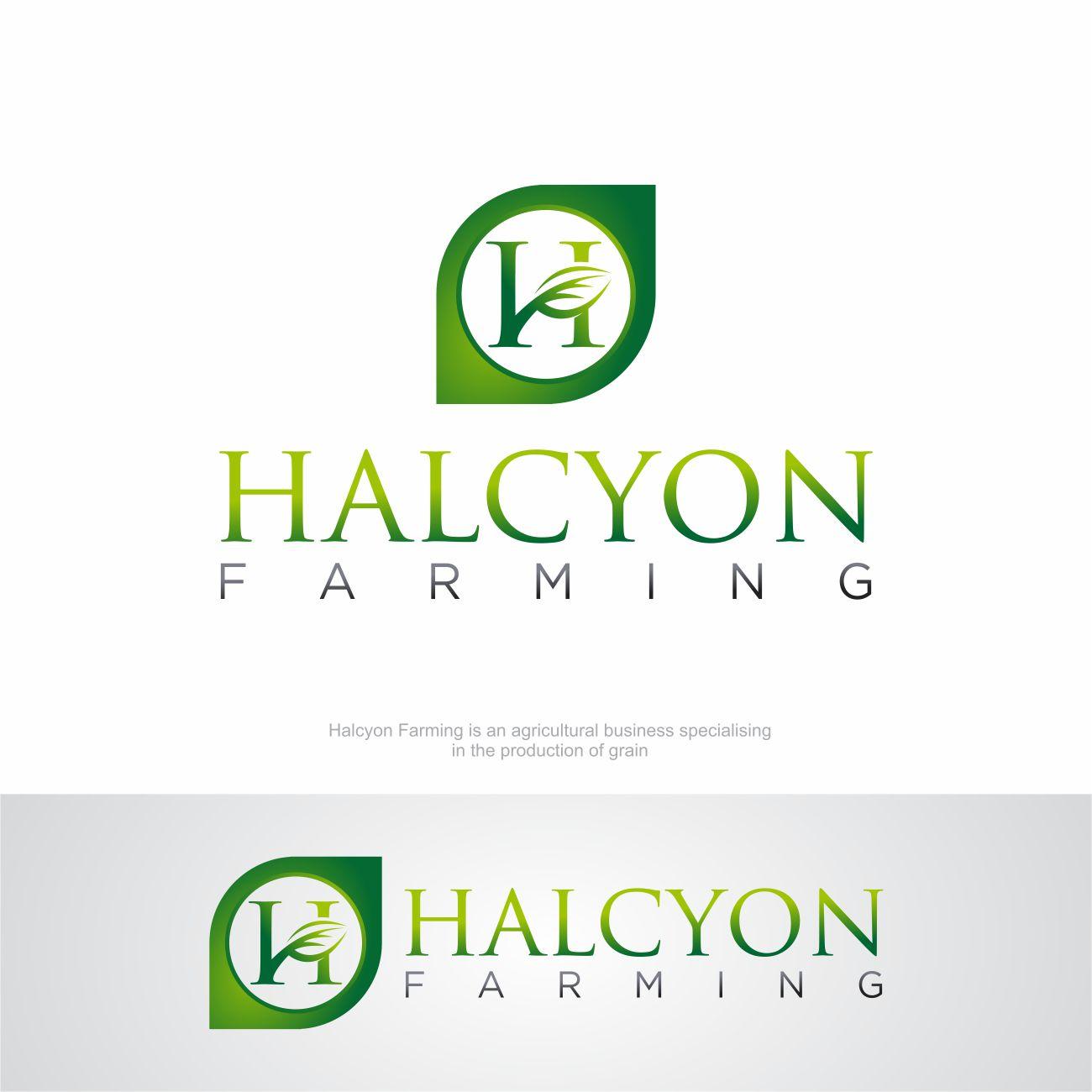 Logo Design by RasYa Muhammad Athaya - Entry No. 114 in the Logo Design Contest Creative Logo Design for Halcyon Farming.