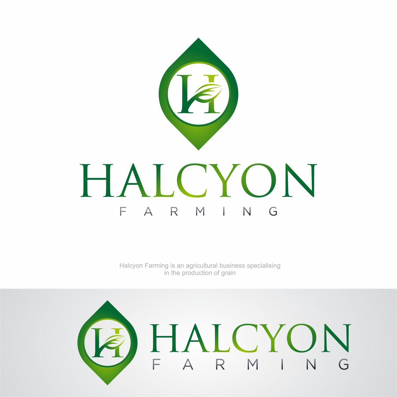 Logo Design by RasYa Muhammad Athaya - Entry No. 115 in the Logo Design Contest Creative Logo Design for Halcyon Farming.