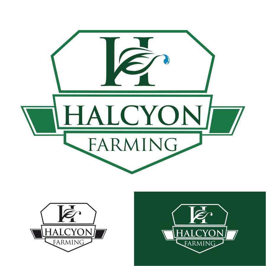Logo Design by Taufiq Ardhani - Entry No. 121 in the Logo Design Contest Creative Logo Design for Halcyon Farming.