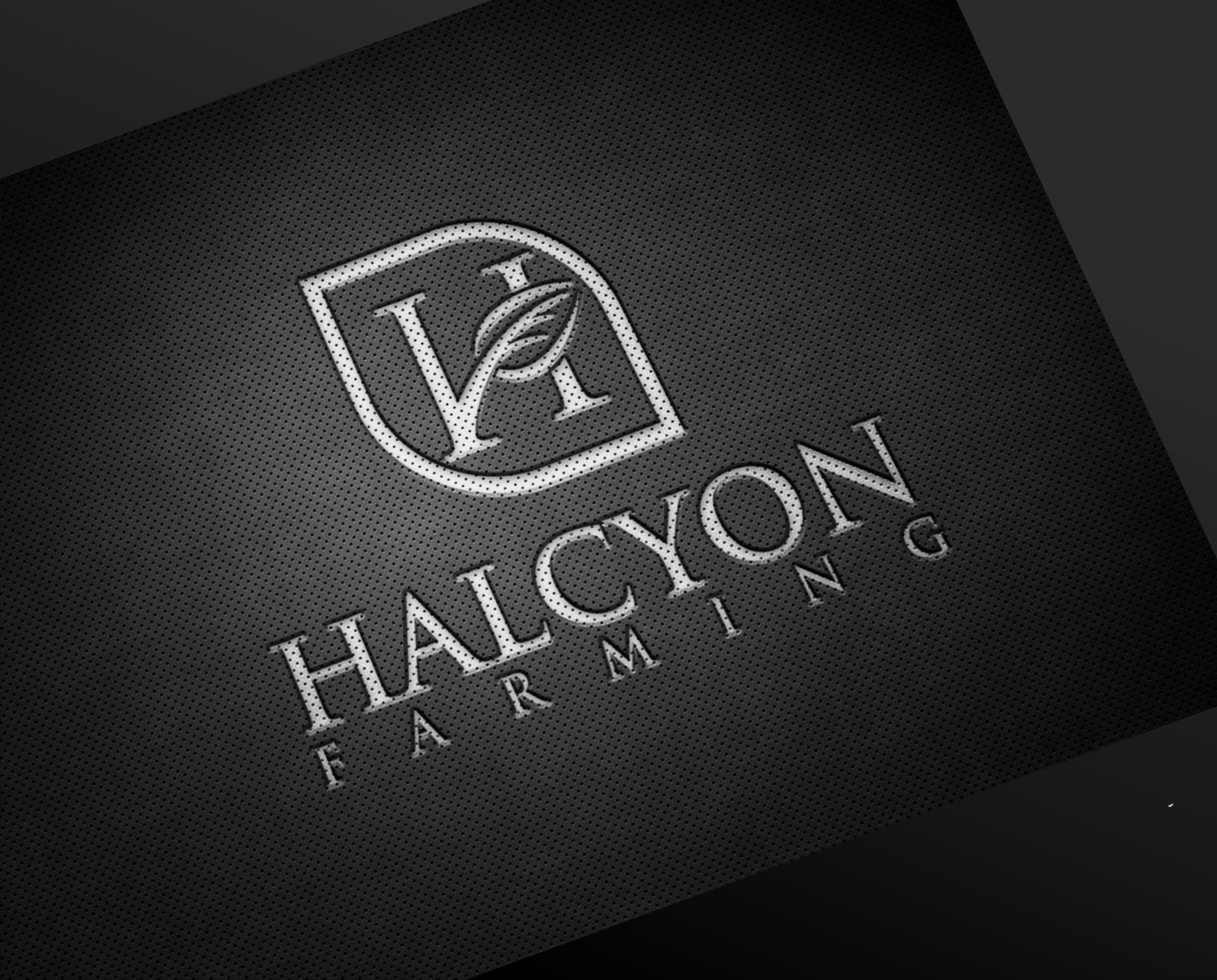 Logo Design by Net Bih - Entry No. 124 in the Logo Design Contest Creative Logo Design for Halcyon Farming.