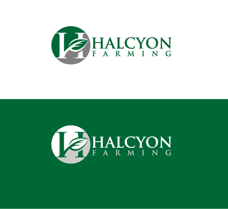 Logo Design by Private User - Entry No. 127 in the Logo Design Contest Creative Logo Design for Halcyon Farming.