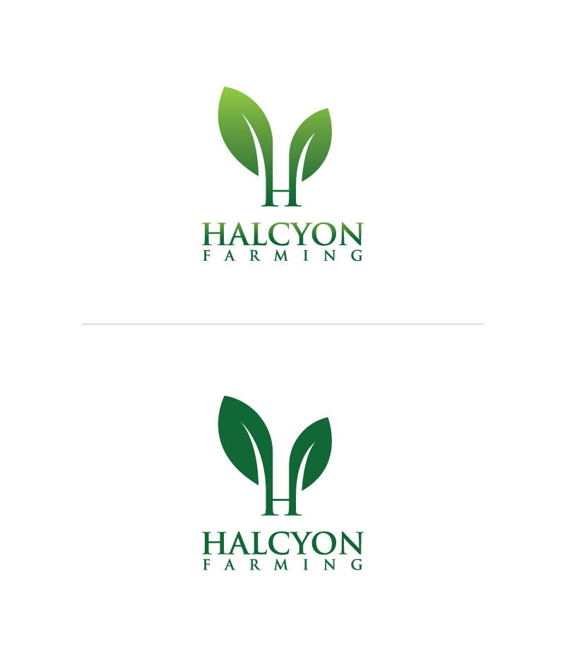 Logo Design by Tauhid Shaikh - Entry No. 129 in the Logo Design Contest Creative Logo Design for Halcyon Farming.