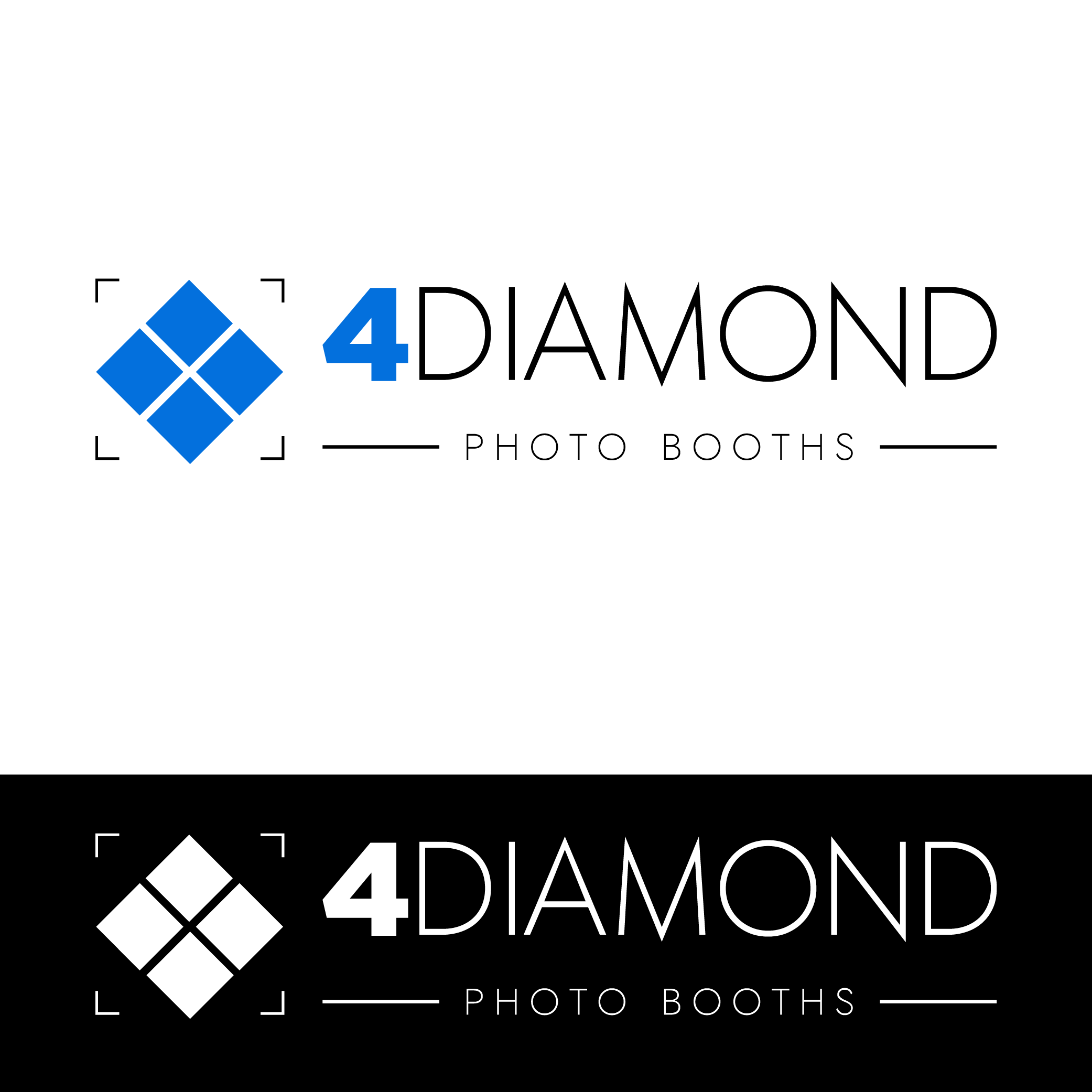 Logo Design by Private User - Entry No. 2 in the Logo Design Contest Creative Logo Design for 4 Diamond Photo Booths.