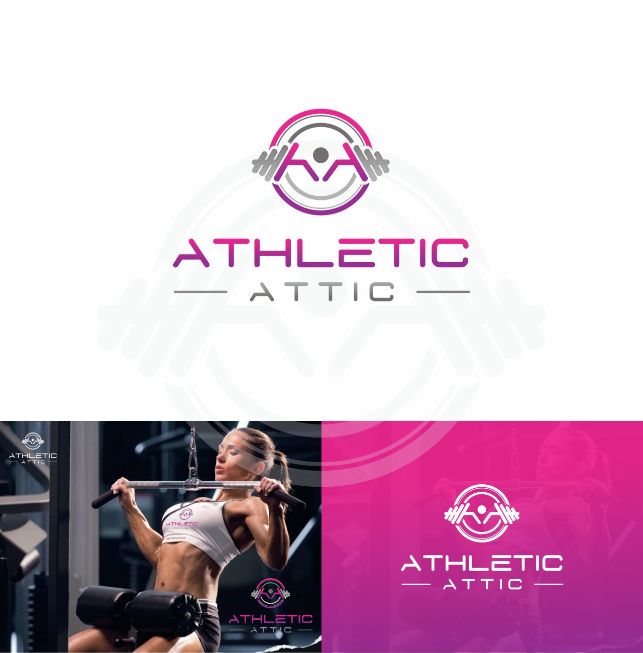 Logo Design by RasYa Muhammad Athaya - Entry No. 140 in the Logo Design Contest Fun Logo Design for Athletic Attic.