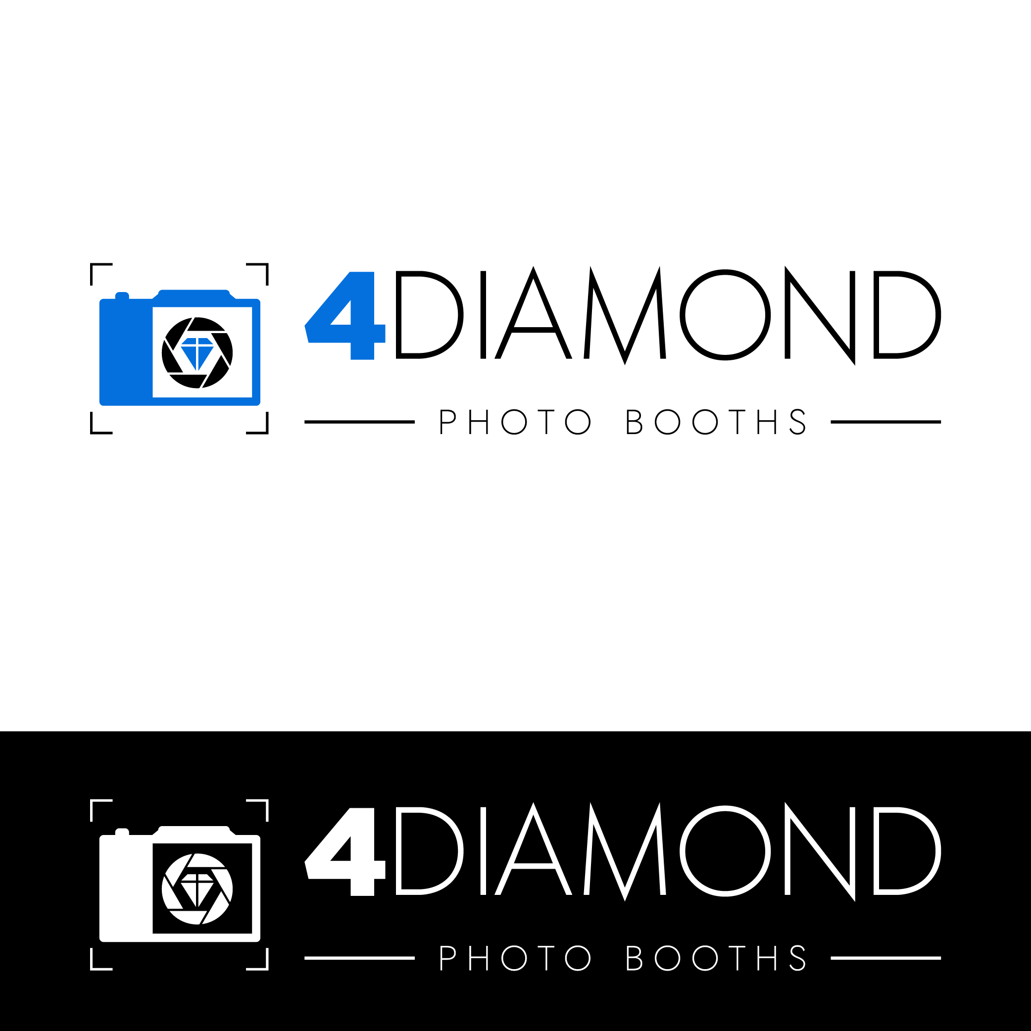 Logo Design by Private User - Entry No. 6 in the Logo Design Contest Creative Logo Design for 4 Diamond Photo Booths.