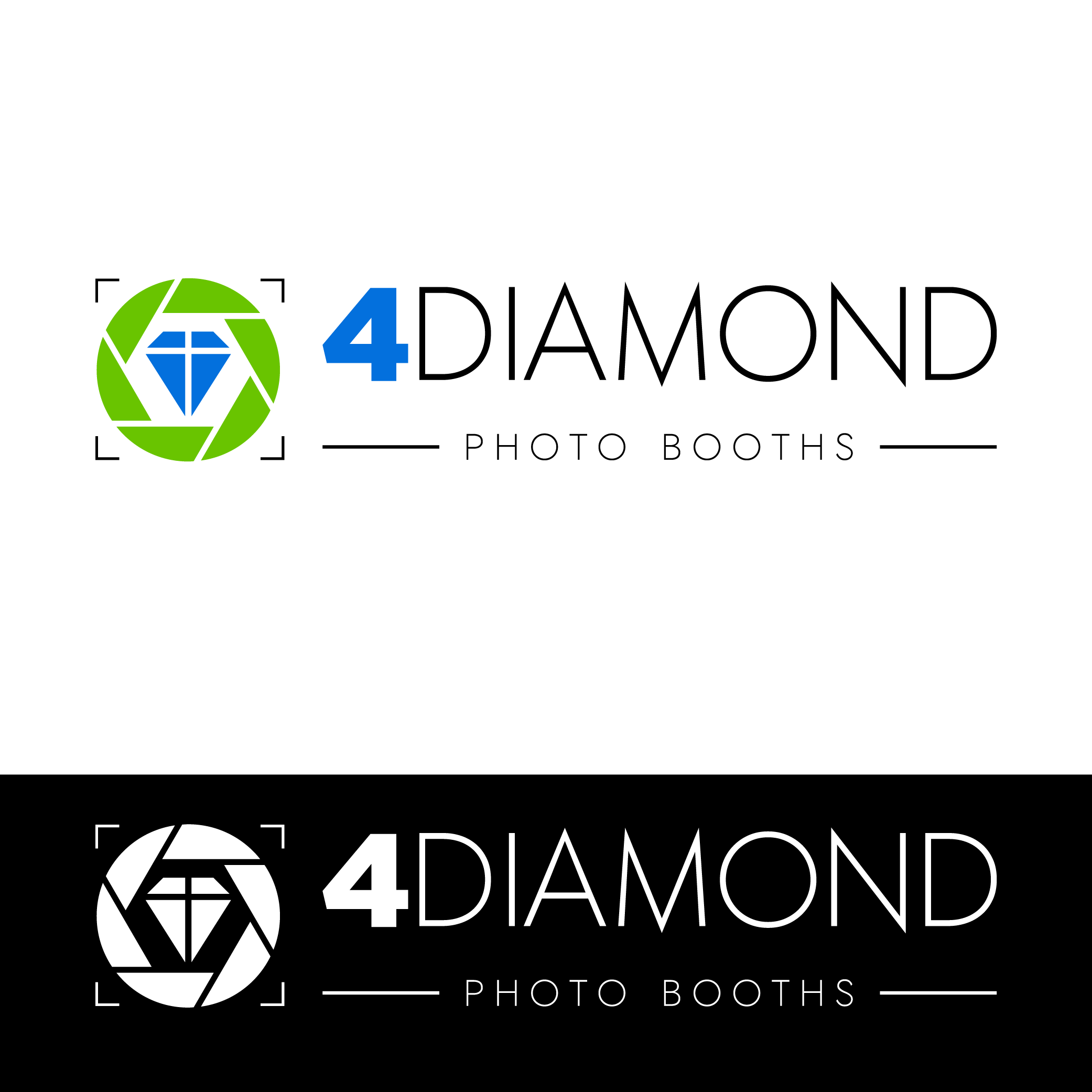 Logo Design by Private User - Entry No. 9 in the Logo Design Contest Creative Logo Design for 4 Diamond Photo Booths.