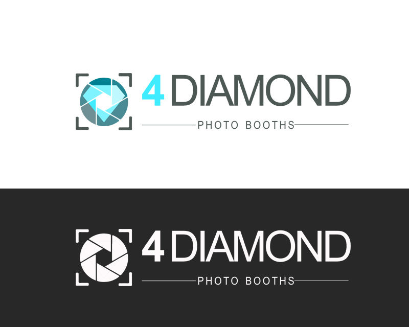 Logo Design by YANUAR ANTABUA - Entry No. 13 in the Logo Design Contest Creative Logo Design for 4 Diamond Photo Booths.