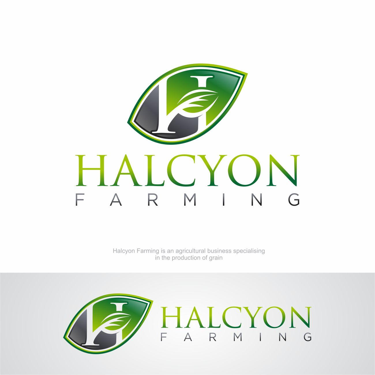 Logo Design by RasYa Muhammad Athaya - Entry No. 133 in the Logo Design Contest Creative Logo Design for Halcyon Farming.