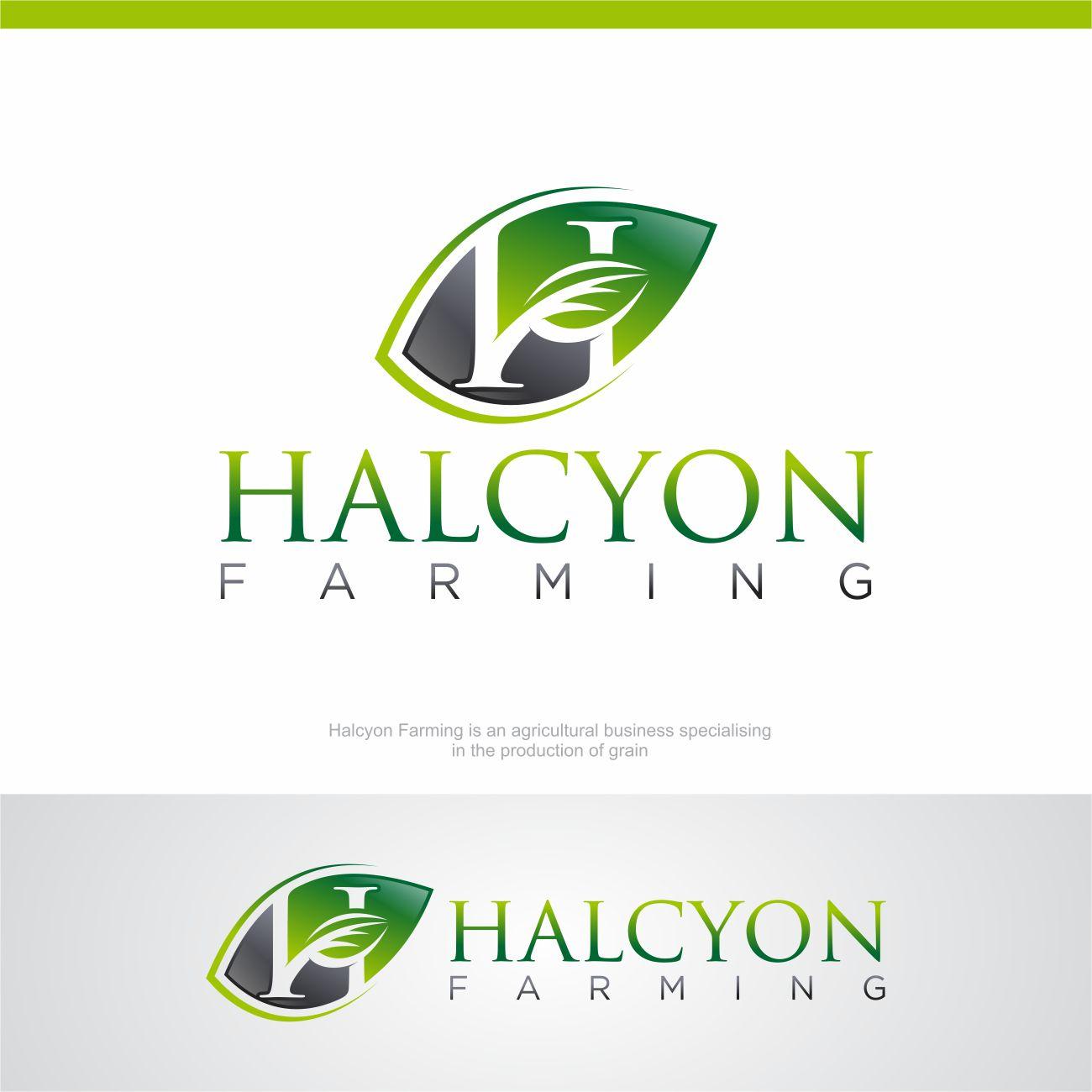 Logo Design by RasYa Muhammad Athaya - Entry No. 134 in the Logo Design Contest Creative Logo Design for Halcyon Farming.